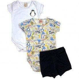 conjunto body bebe manga curta e short bermuda verao menino menina 20210721 165553