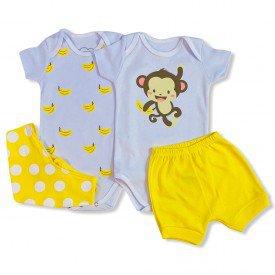 conjunto body bebe manga curta e short bermuda verao menino menina 20210924 143349