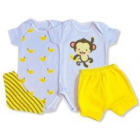 conjunto body bebe manga curta e short bermuda verao menino menina 20210924 143335