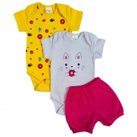 conjunto body bebe manga curta e short bermuda verao menino menina 20210928 081618