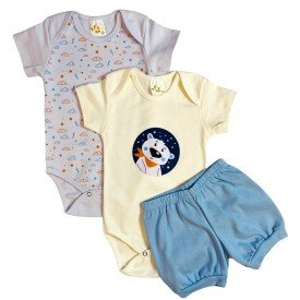 conjunto body bebe manga curta e short bermuda verao menino menina 20211004 082706