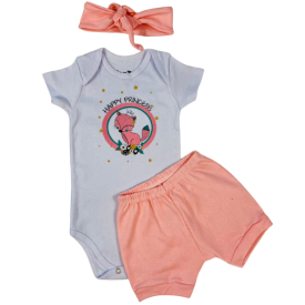 kit 3 pecas 3 conjuntos rosa feminino conjunto barato conjunto combo promocional moda infantil