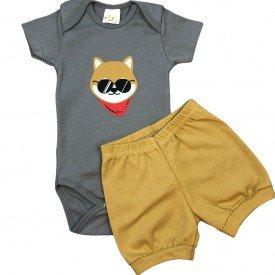 conjunto body bebe manga curta e short bermuda verao menino menina 20211022 112102